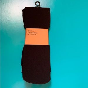 New Urban Outfitters Black Thigh Hight Tights